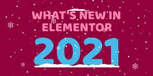 Elementor 2021 Blog Header