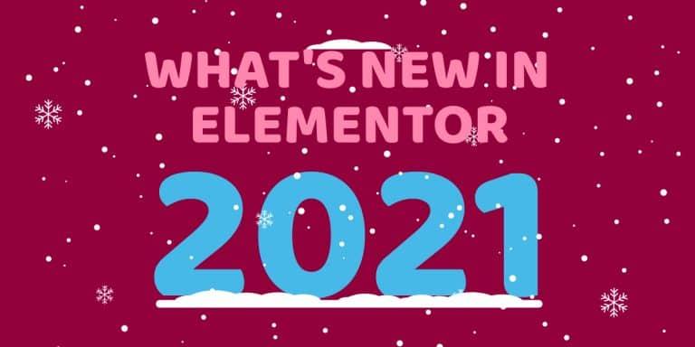 Elementor 2021 Blog Header